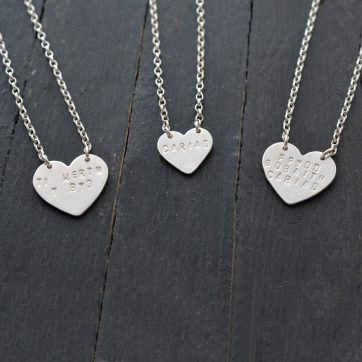 Solid Silver Hearts
